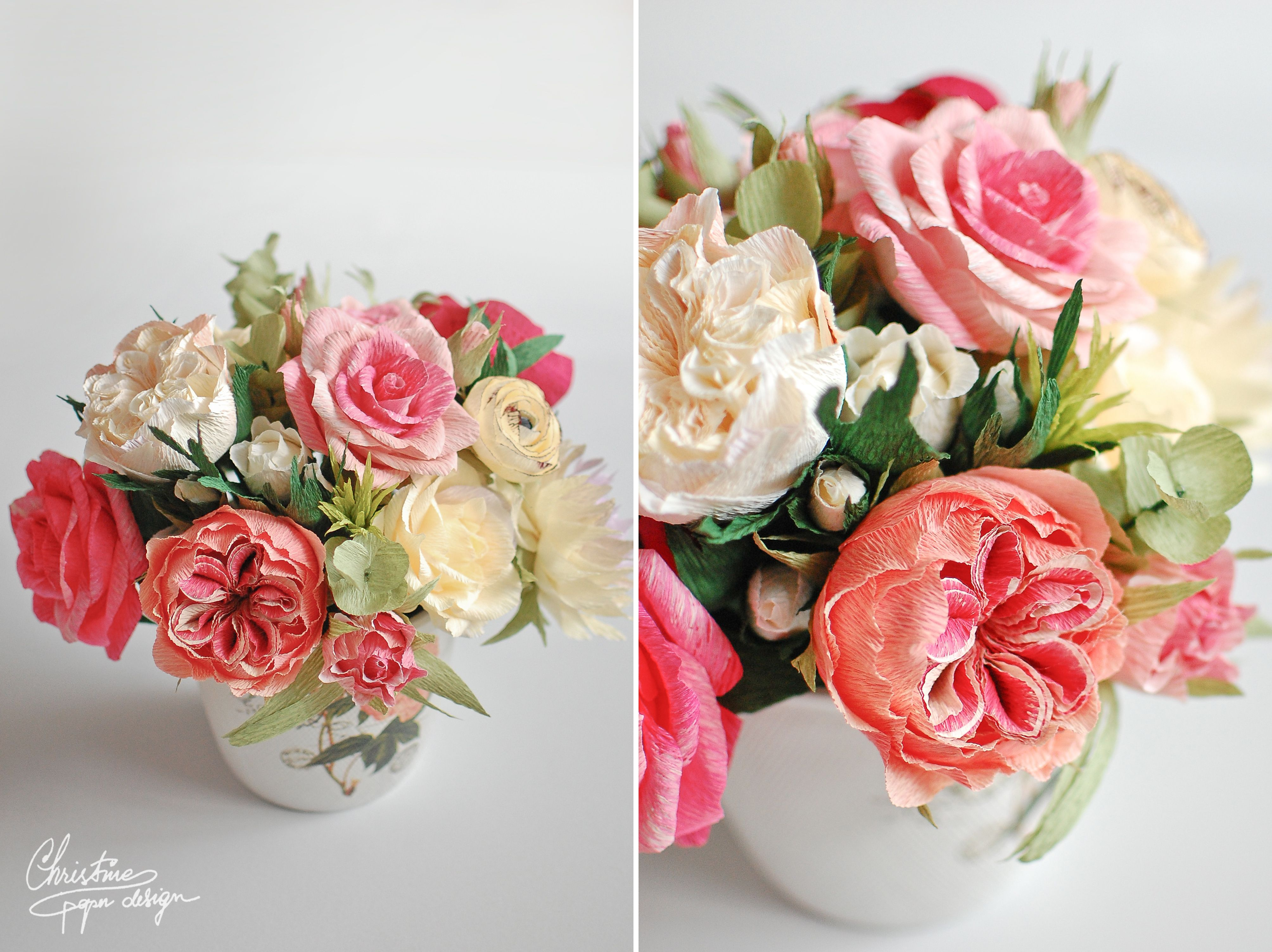 Paper Flowers Centerpiece A Gift That Never Fades Christine