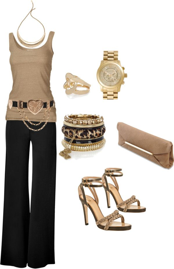 cute belt with tank, what a way to dress up a tank top