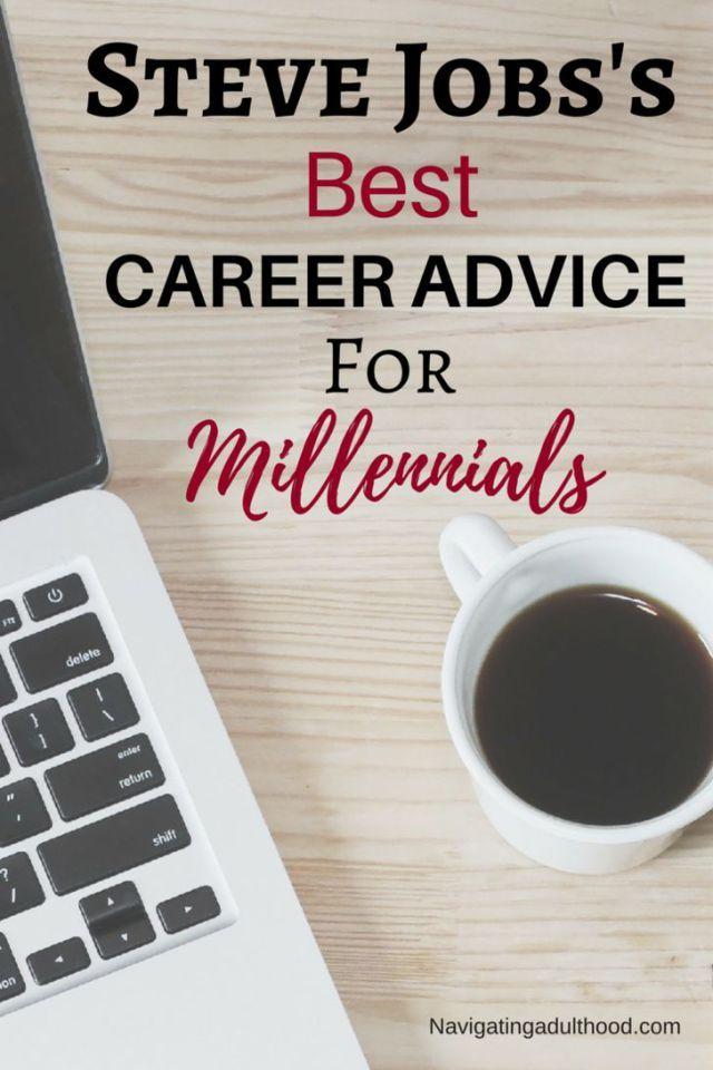 Career infographic  Steve Jobs best career advice for millennials - steve jobs resume