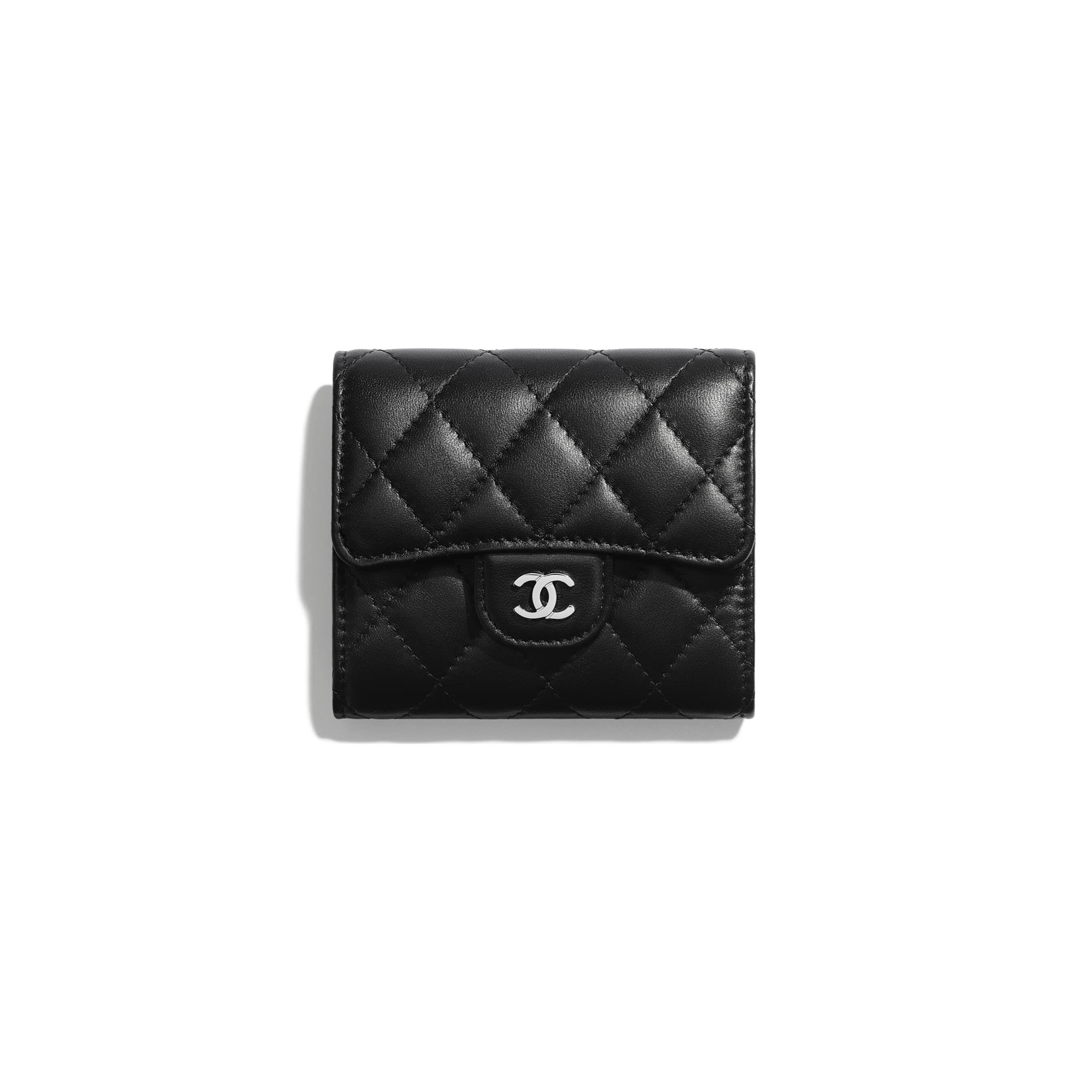93b05c1dbfdaad Classic Small Flap Wallet - Black - Lambskin & Silver-Tone Metal - Default  view - see standard sized version