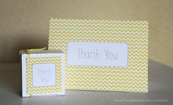 Photo of free printable thank you cards