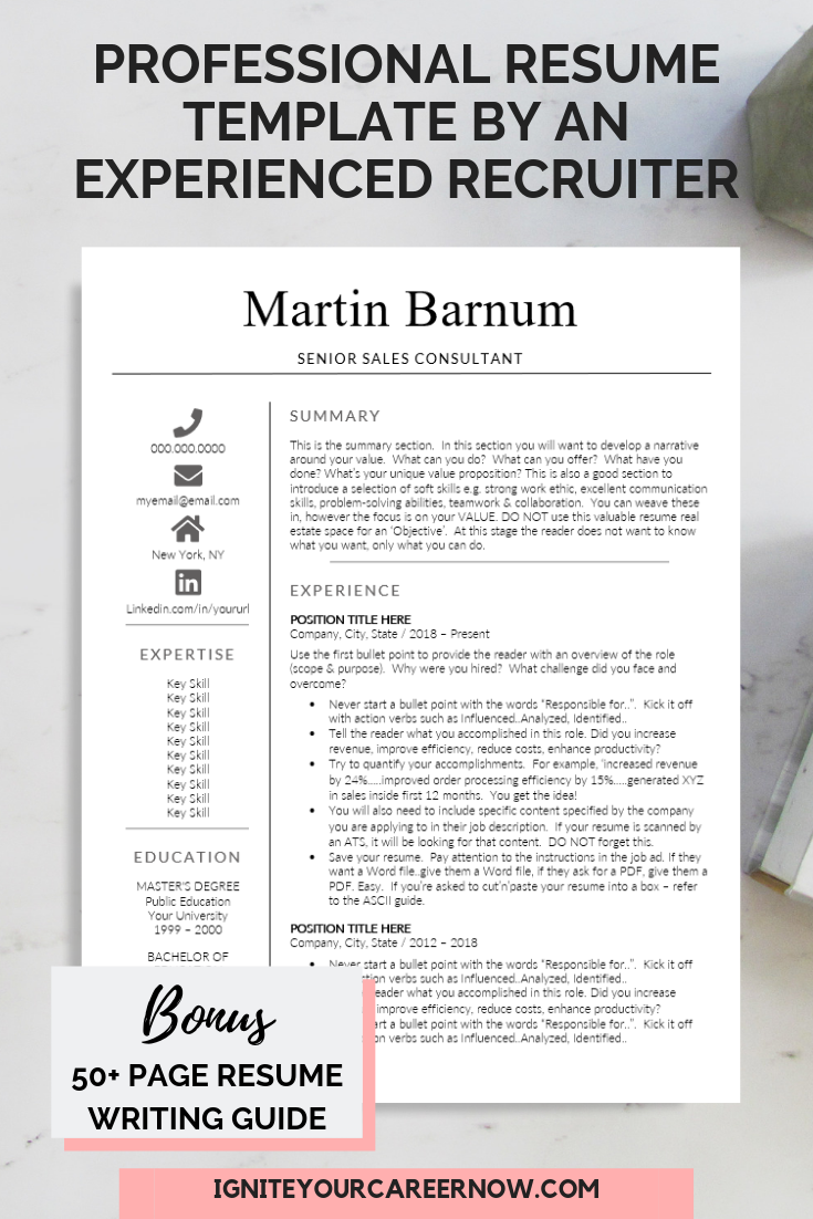 Resume Templates For Mac Amp Pc Cv Design Retail Sales