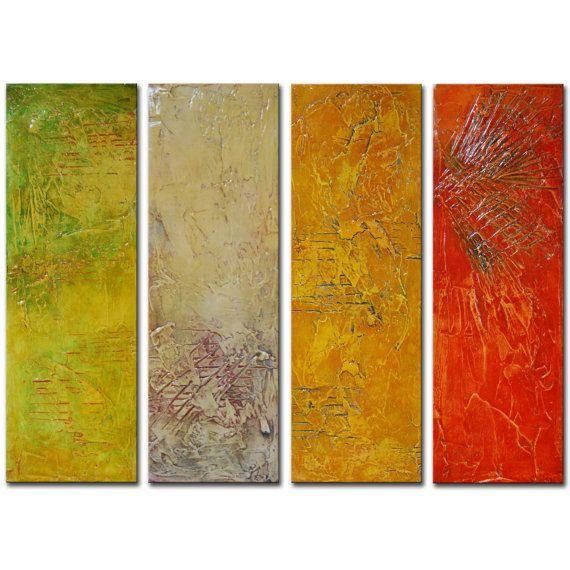 Original Abstract PaintingLarge panels textural by BuyWallArt