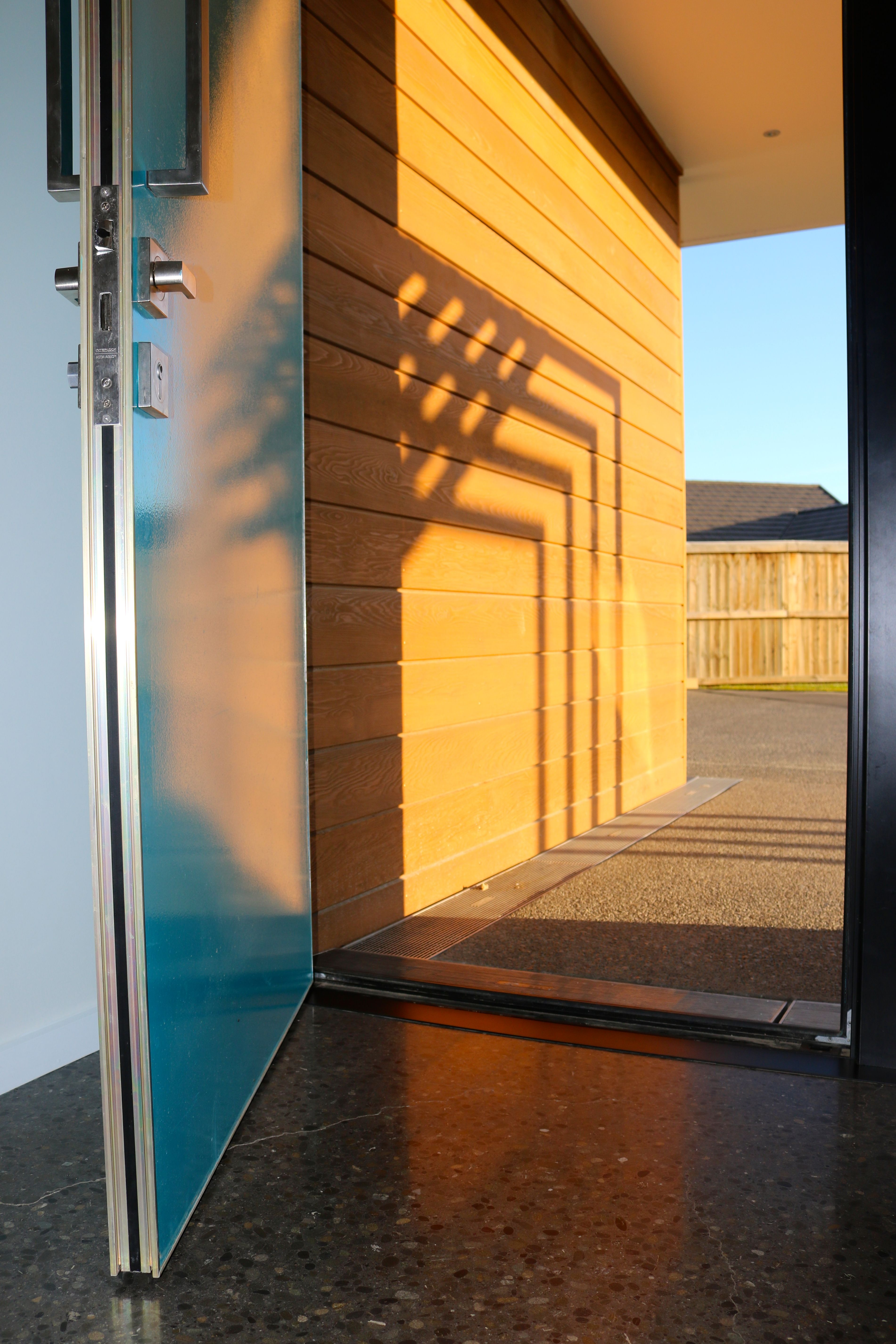 A Customised Blue Door From Apl With Easy To Open Handle And Lock