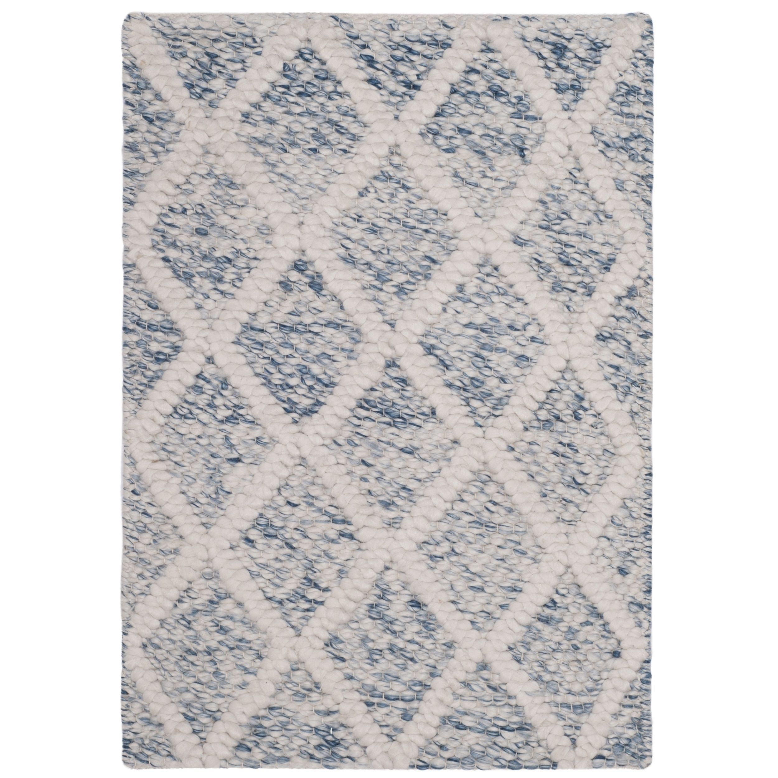 Safavieh Natura Hand Tufted Ivory Blue Wool Accent Area Rug 2 x 3