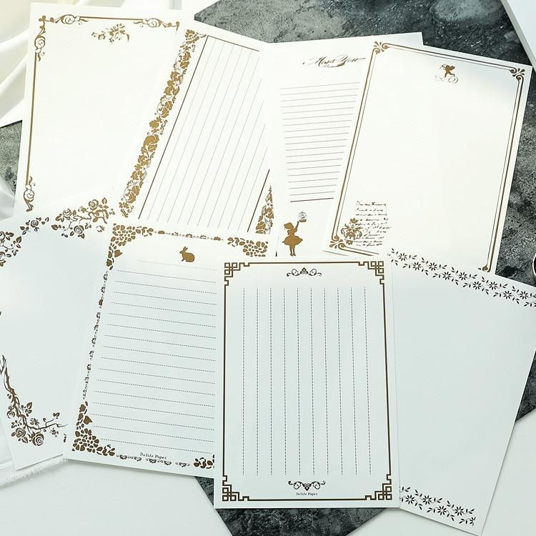 8 Sheets Vintage Retro Design Writing Stationery Paper Pad Note Letter Writing For Your Soul Stationery Paper Letter Set Paper Pads