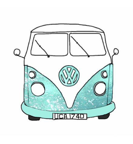 hippie van tumblr | Hippie Van Drawing Drawing picture blue sketch ...