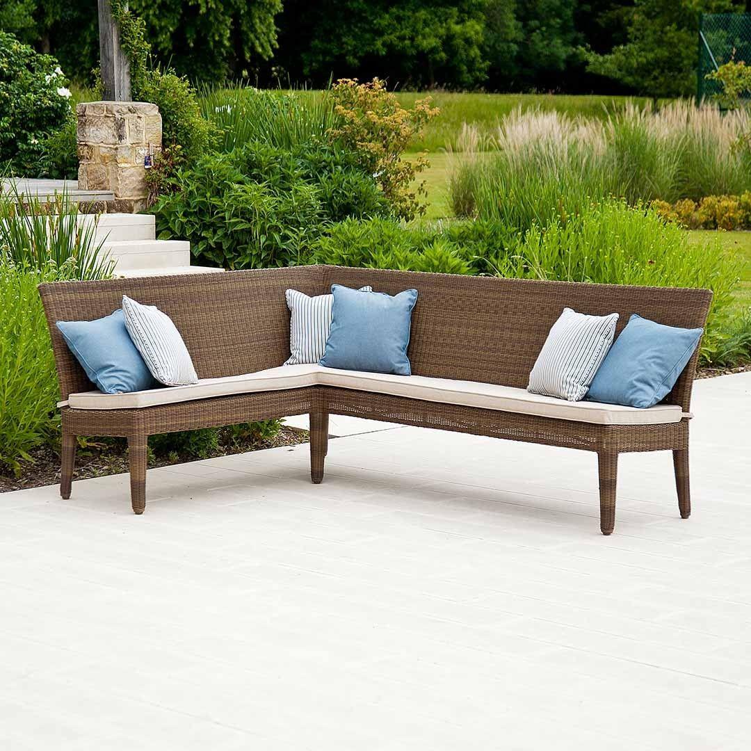 Rattan garden benches house plans pinterest corner bench