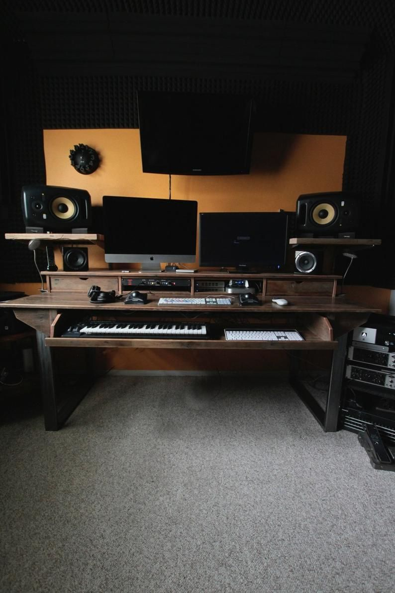Reclaimed Composer / Studio Desk for Audio / Video / Film