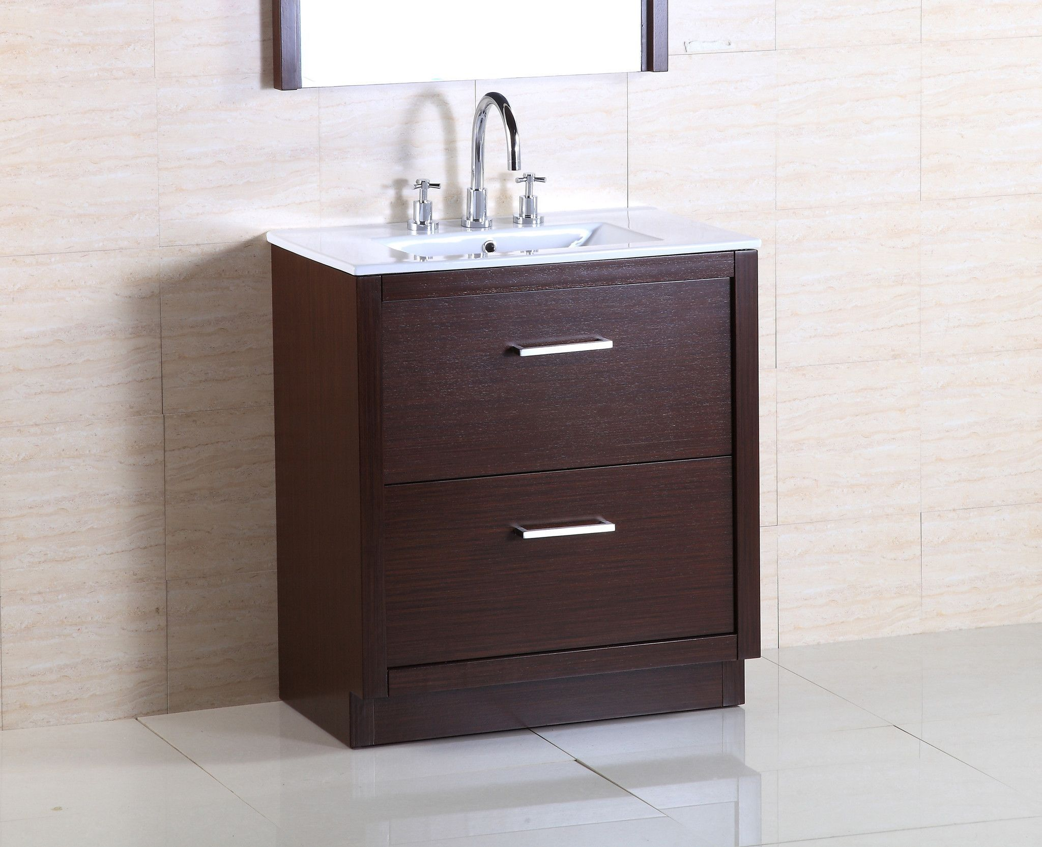 This 30 Vanity Is Elegantly Constructed Of Solid Wood Finished In A Wenge Color