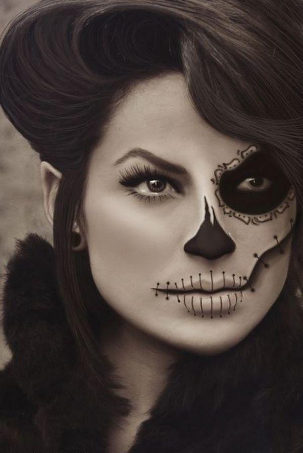 Peinado y maquillaje halloween