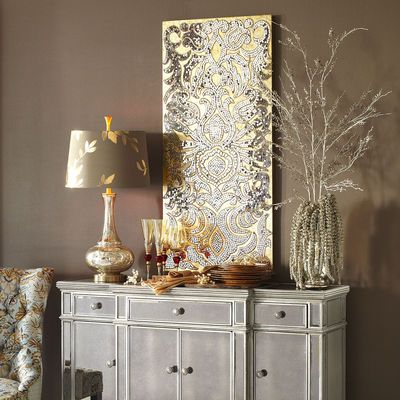 Mirrored Damask Mosaic Wall Panel | Pier one wall decor ...