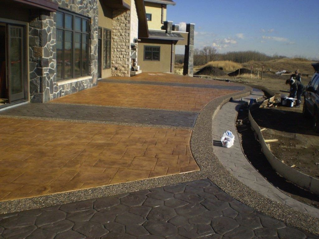 Poured Concrete Patio Ideas 12 X 35 Patio Using A Medium Sized