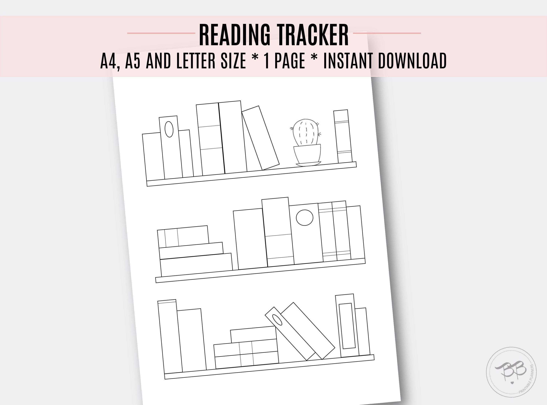 Bookshelf Reading Tracker/ Book Log / Printable Tracker