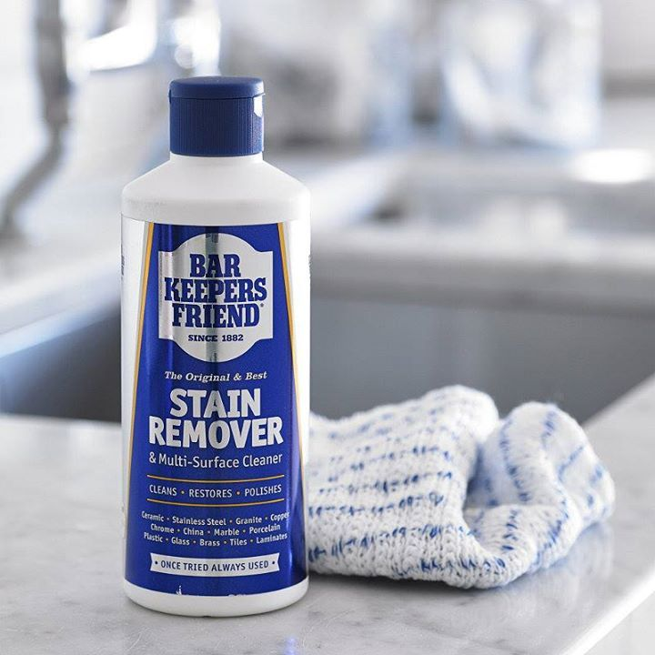 Bottle of bar keepers friend from their fb page with