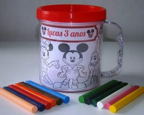 Caneca pinturinha Mickey