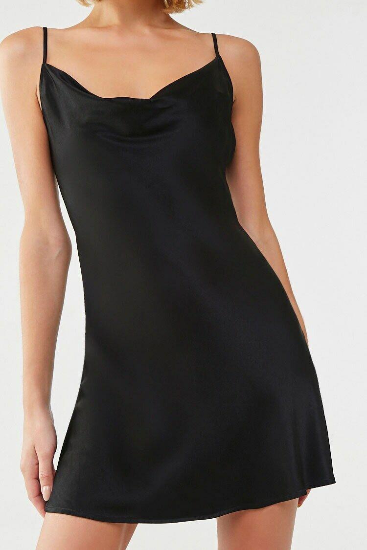 Satin Mini Slip Dress Forever 21 In 2021 Mini Slip Dress Slip Dress Short Long Dresses [ 1125 x 750 Pixel ]