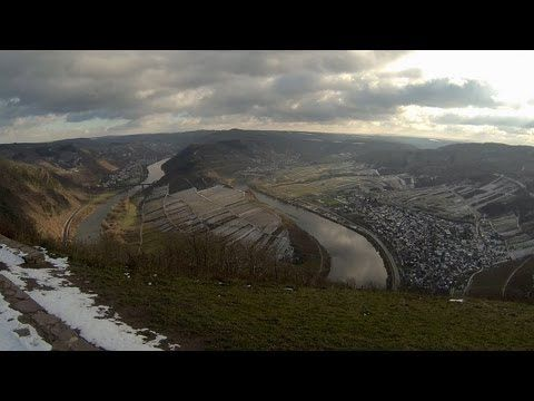 Calmont at the river Moselle  - video taken with GoPro Hero3 Black Edition