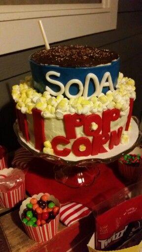 Popcorn and soda cake
