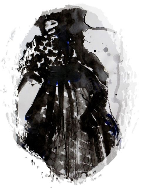 """from the serie """"Dancing geisha"""".  Print for sale in my Society6 shop here: http://society6.com/Iddamaryse/Dancing-Geisha_Print/"""