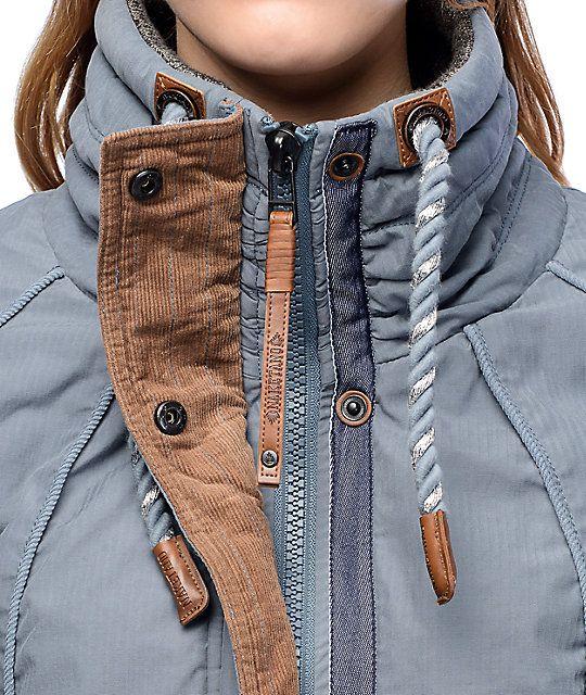 Naketano Tanaka VI Blue Grey Jacket | WARDROBE | Gray jacket