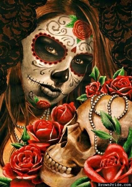 f6cad607c Dia de los Muertos Sugar Skulls, Sugar Skull Makeup, Sugar Skull Girl, Candy