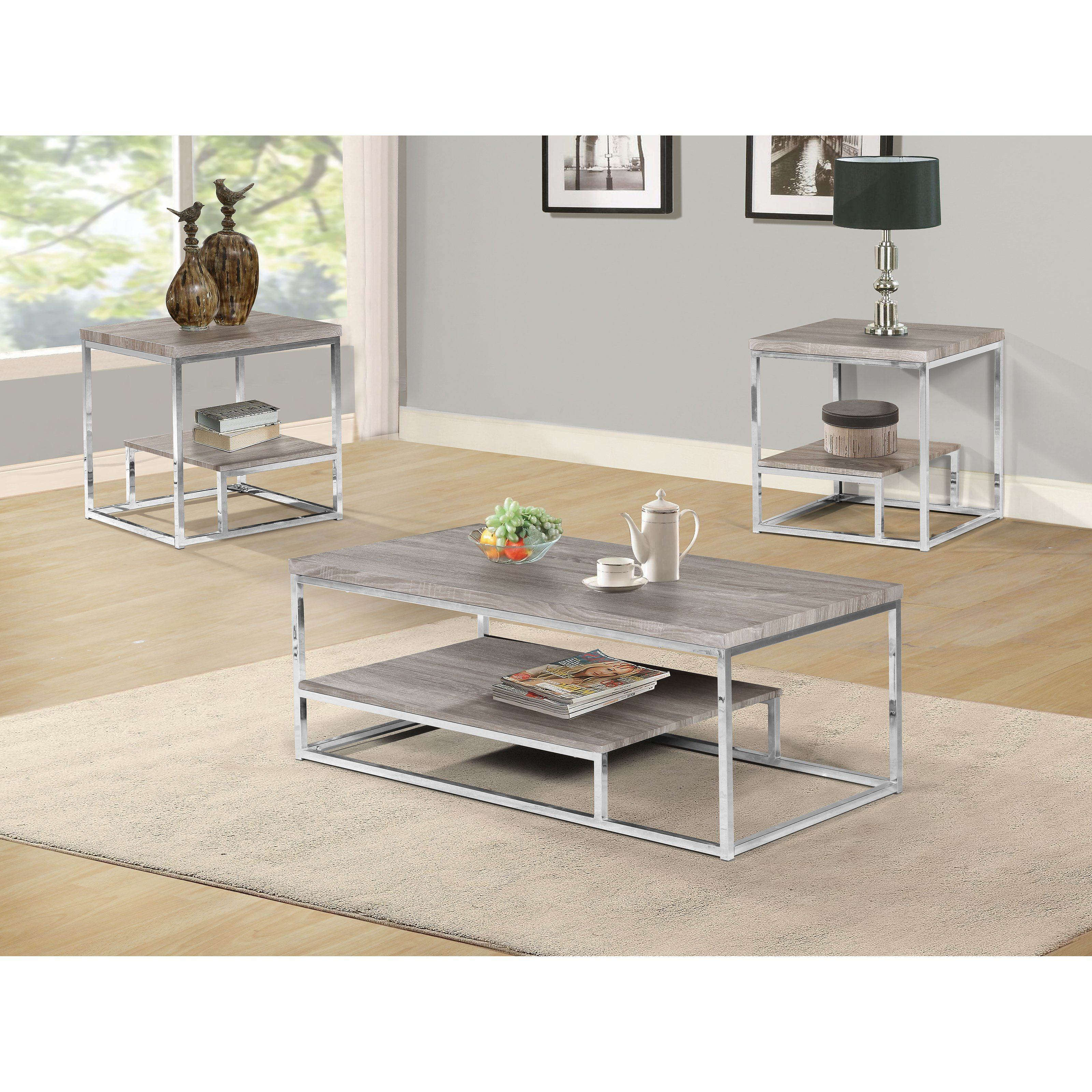 Home Source Industries Pelican Coastal Coffee Table Set   from ...