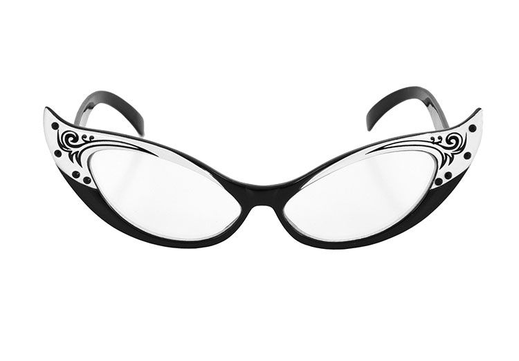 Vintage White And Cat In Black Fashion 2019Cute Eye Glasses by76fg