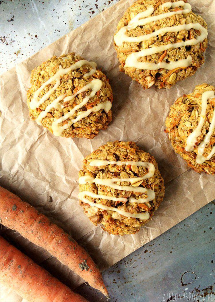 ciastka marchewkowe z płatkami owsianymi i pomarańczą- bez cukru i mąki