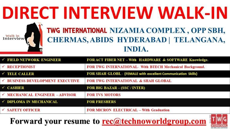 DIRECT INTERVIEW WALKIN INTERVIEWLOCATION