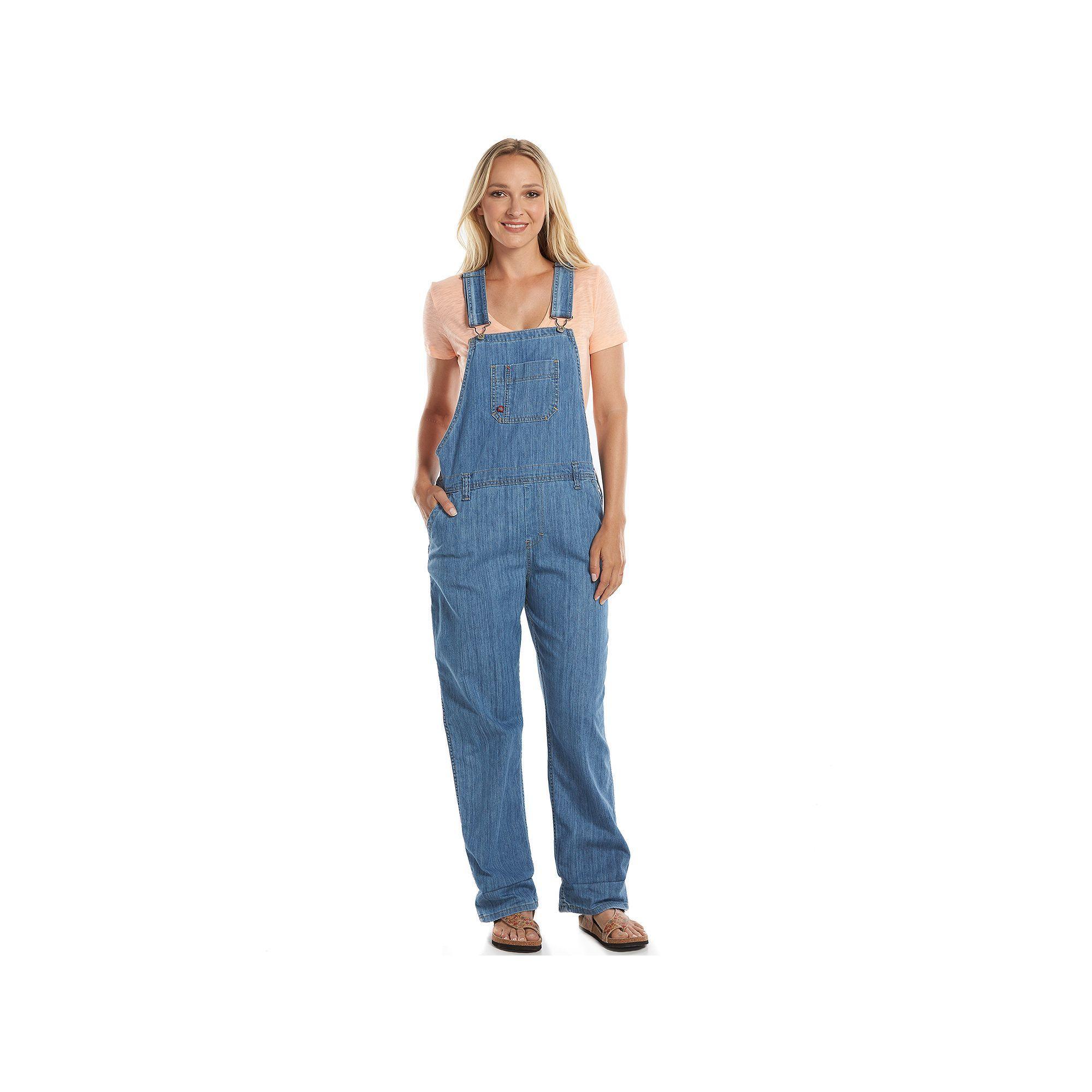 eaacc085920 Dickies Relaxed Straight-Leg Denim Bib Overalls - Women s