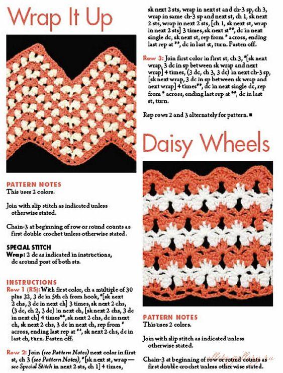 Lots of free zig zag, ripple crochet afghan patterns here. just keep ...