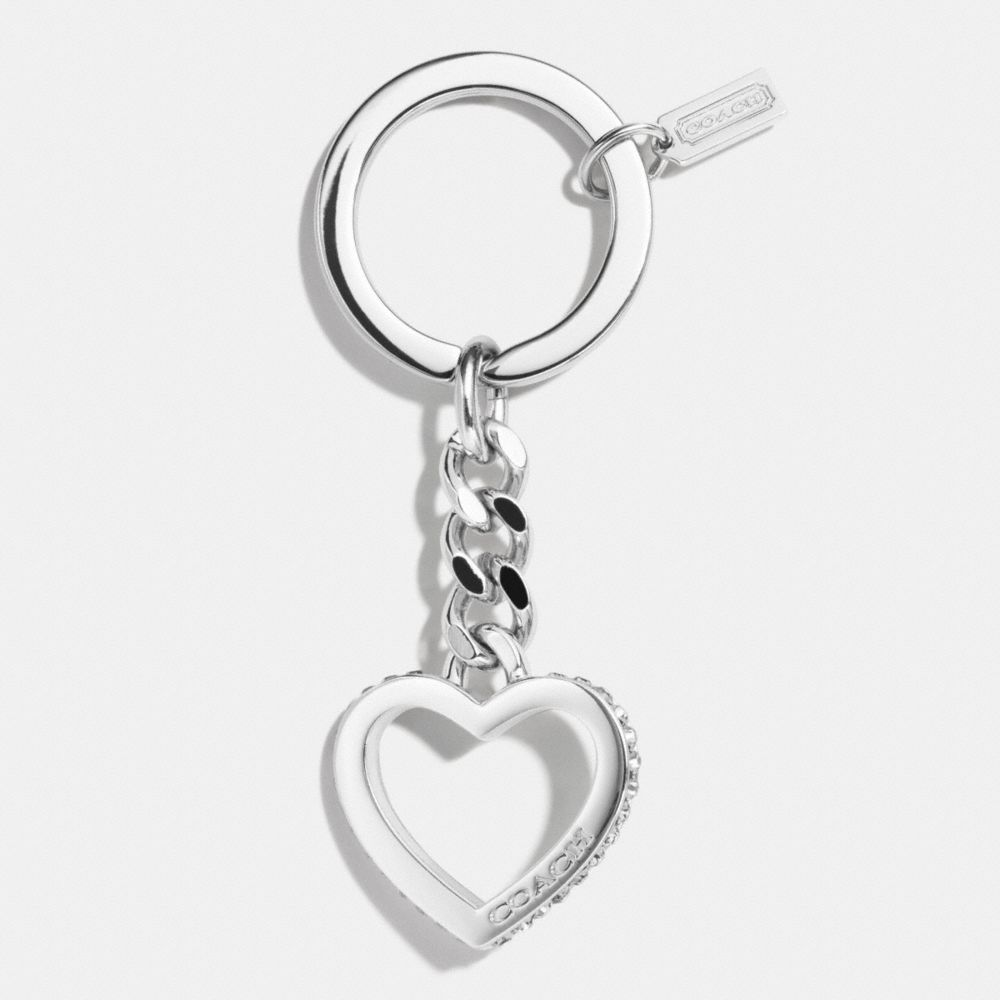 The Pave Curb Chain Heart Key Ring From Coach This Is My Favorite Key Chain On Coach