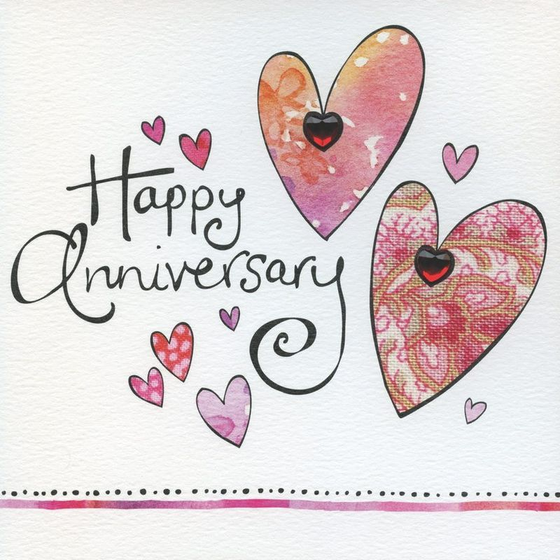 Hand finished happy anniversary card happy anniversary