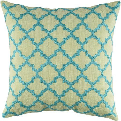 Rizzy Home T-4067 18-Inch by 18-Inch Decorative Pillows, Lime Green/Aqua, Set of 2 by Rizzy Home, http://www.amazon.com/dp/B005FPCUZ8/ref=cm_sw_r_pi_dp_YZdAqb1SE295T