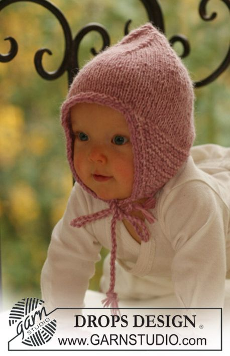 """DROPS Baby 16-13 - DROPS Mütze in """"Alpaca"""" mit 2 Fäden gestrickt ..."""