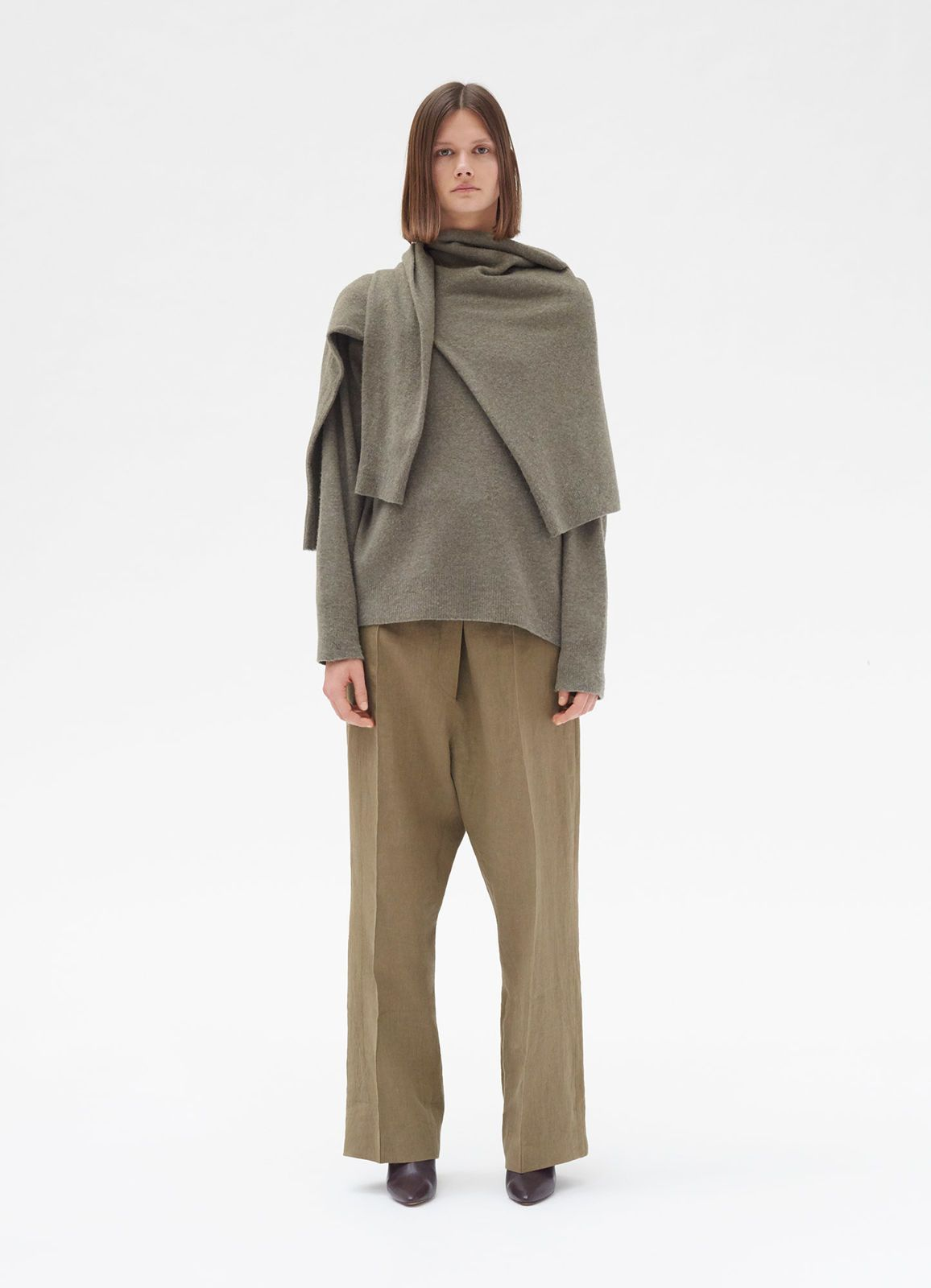 08f26ce7f42c Two-in-one sweater in boiled wool cashmere