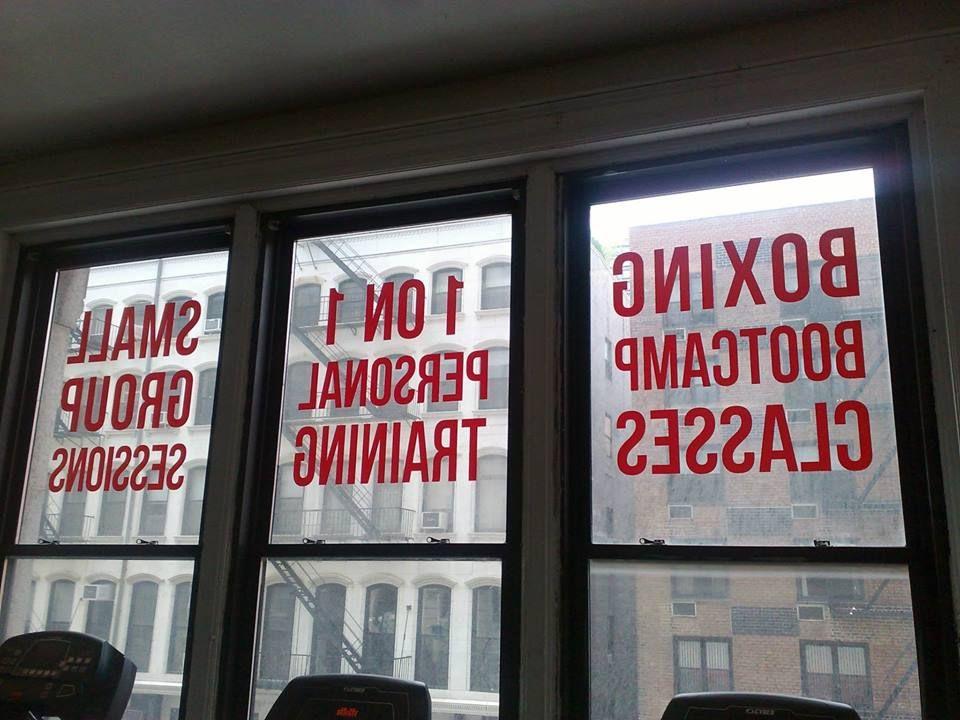 Vinyl Glass Window Sign NYC Custom Diecut Adhesive Vinyl - Custom vinyl decals nyc