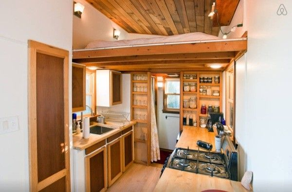agreeable tiny house portland oregon. Alberta Rustic Modern Tiny House  Houses for Rent in Portland Oregon United States Would prefer pocket door to bathroom over curtain but otherwise