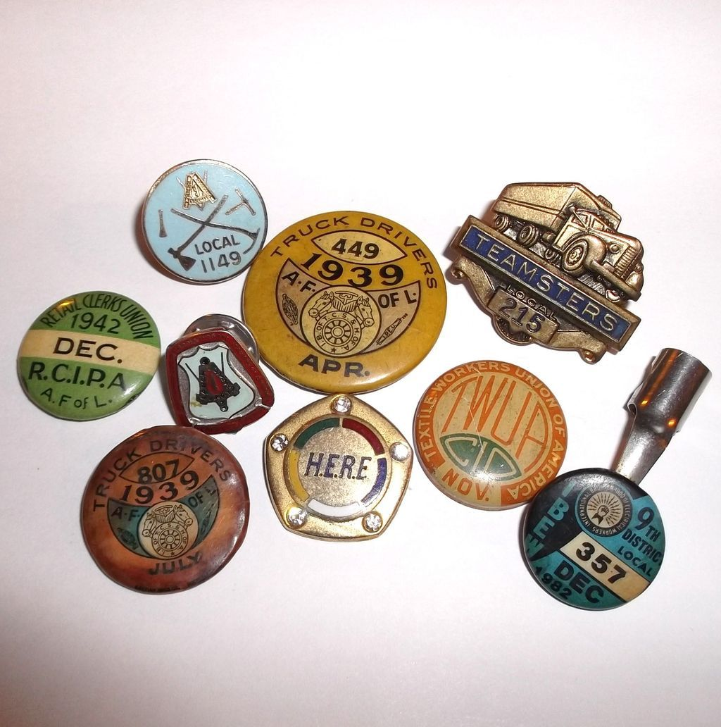 teamster union trucks | Vintage Union Pins & Caps Truck