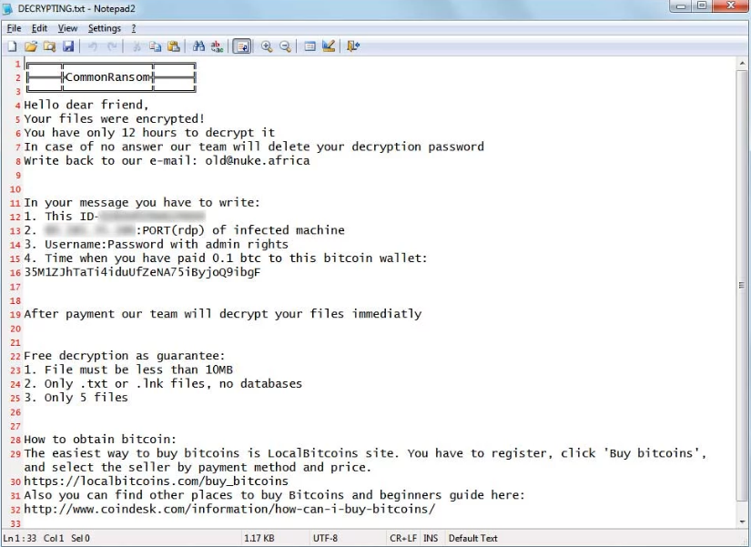 Latest Ransomware Variant Demands Rdp Access To Decrypt Files Router How To Remove Vulnerability