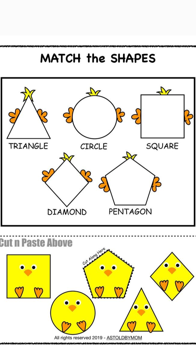 Shapes Puzzles & Activities with Chicks