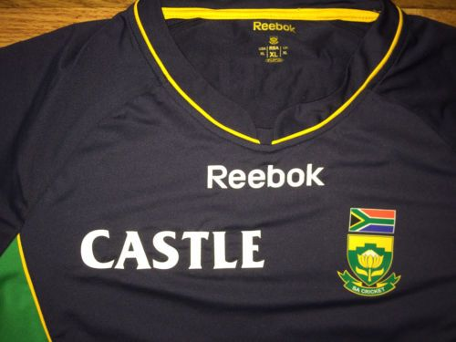 bbf4d33f9479 South Africa Proteas Reebok Castle Brewery National Cricket Team Jersey Xl  Nwt