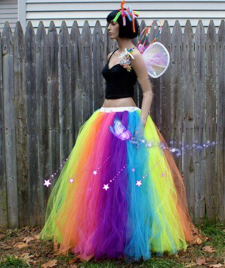 3fc9fafaa Custom Made Female Rainbow Skirt Stage Skirts,Adult Children Long Colorful Tutu  Skirt Dancewear Retail Wholesale Free Shipping