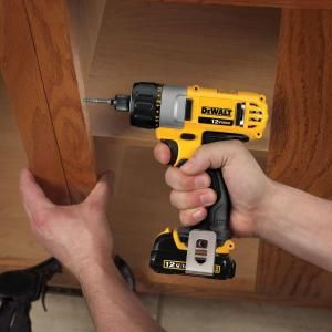 Dewalt 12 Volt Max Li Ion Cordless 1 4 In Screwdriver Kit Dcf610s2 At The Home Depot Dewalt Dewalt Power Tools Drill