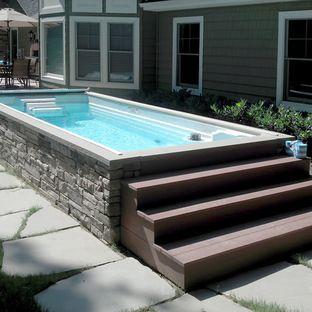 Endless Pools Backyard Swim Spa Endless Pool Backyard Endless Pool Pool Landscaping
