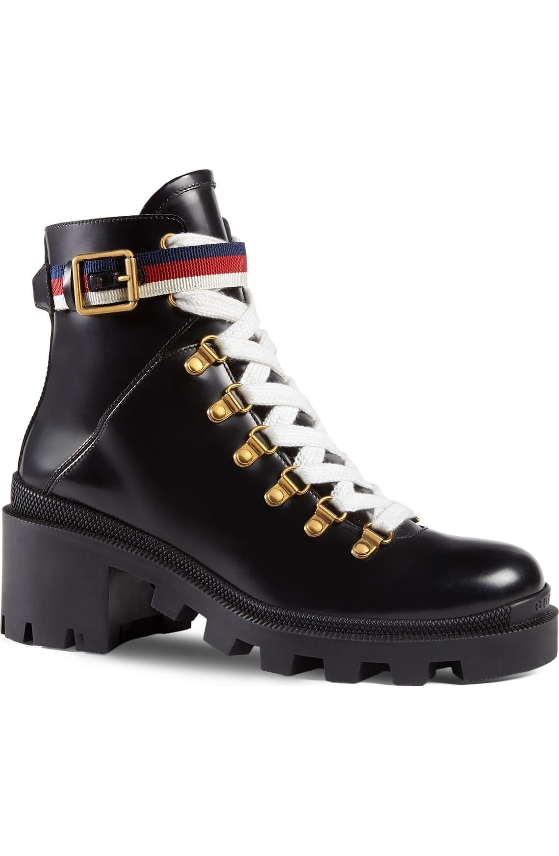 Gucci Trip Lug Sole Combat Boot (Women