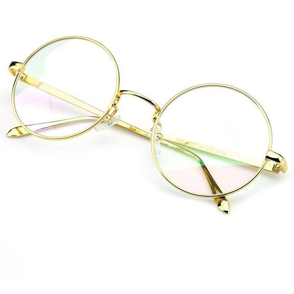 aecf40e032f Circle Lenses · Glasses · PenSee Circle Oversized Metal Eyeglasses Frame  Inspired Horned Rim... ( 5.65) ❤