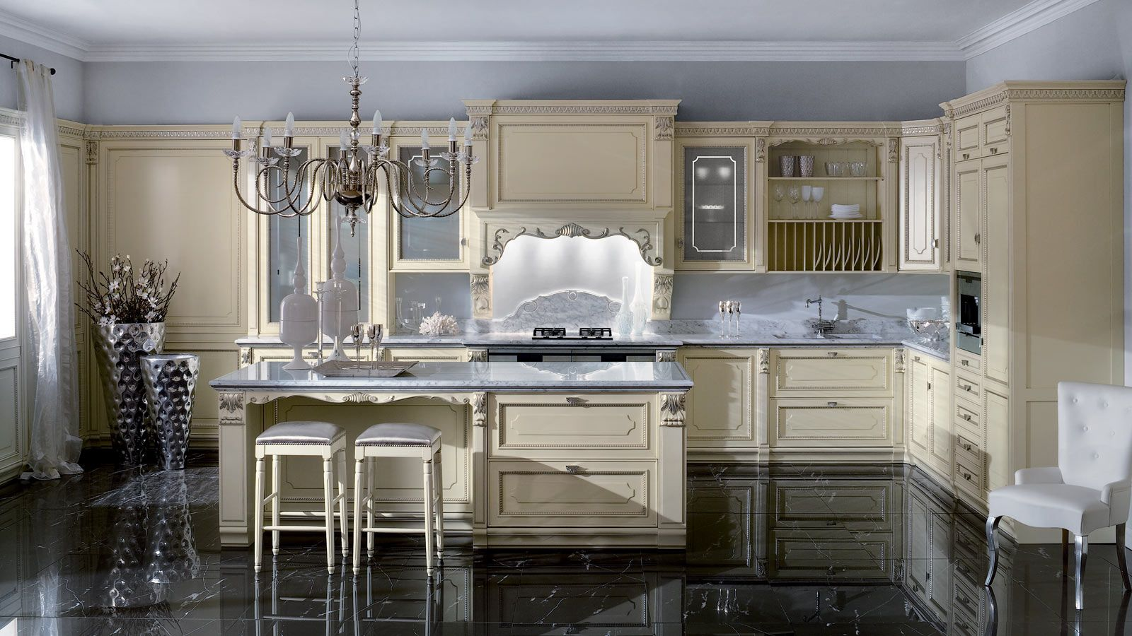 Kitchen Designs Extraordinary Classic Royal Kitchen With Island
