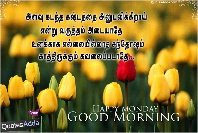 Here Is New Tamil Happy Monday Good Morning Greetings Tamil Latest Good Morning Thirukkural Images Happy Monday Quotes Good Morning Happy Monday Happy Monday